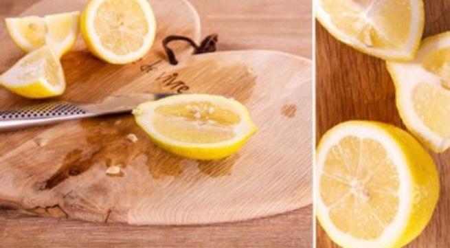Làm sạch thớt gỗ dễ dàng